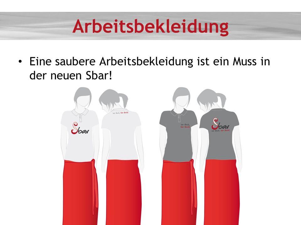 Arbeitsbekleidung Eine saubere Arbeitsbekleidung ist ein Muss in der neuen Sbar!