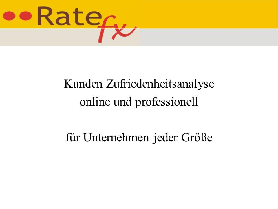 Kunden Zufriedenheitsanalyse online und professionell für Unternehmen jeder Größe