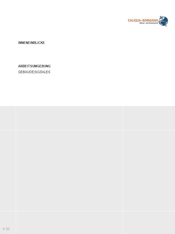 INNENEINBLICKE ARBEITSUMGEBUNG GEBÄUDE SOZIALES 2/ 23 1/ 22