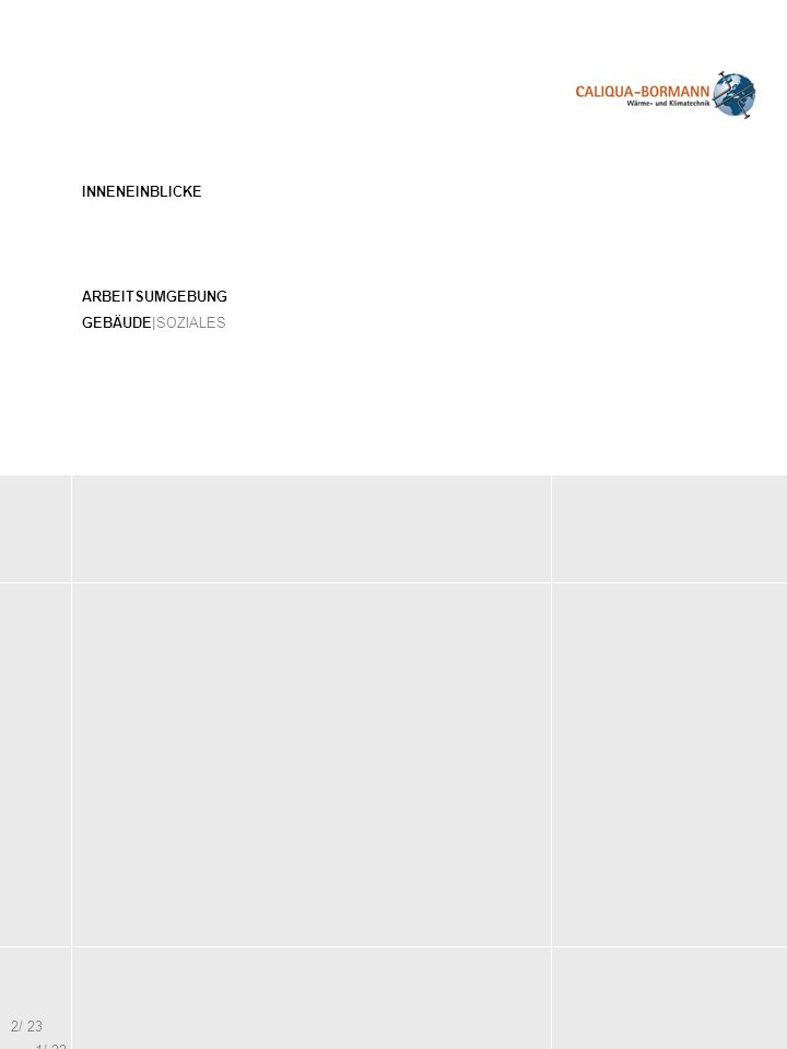 INNENEINBLICKE ARBEITSUMGEBUNG GEBÄUDE|SOZIALES 2/ 23 1/ 22