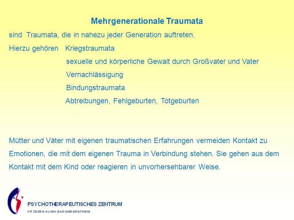 Mehrgenerationale Traumata sind Traumata, die in nahezu jeder Generation auftreten.