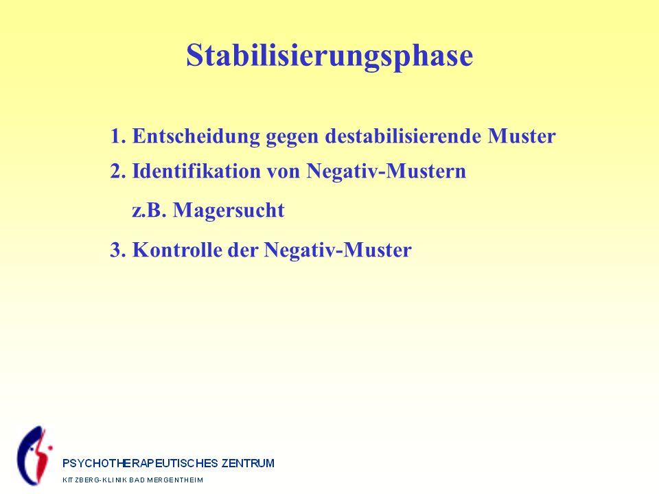 Stabilisierungsphase 1.Entscheidung gegen destabilisierende Muster 2.