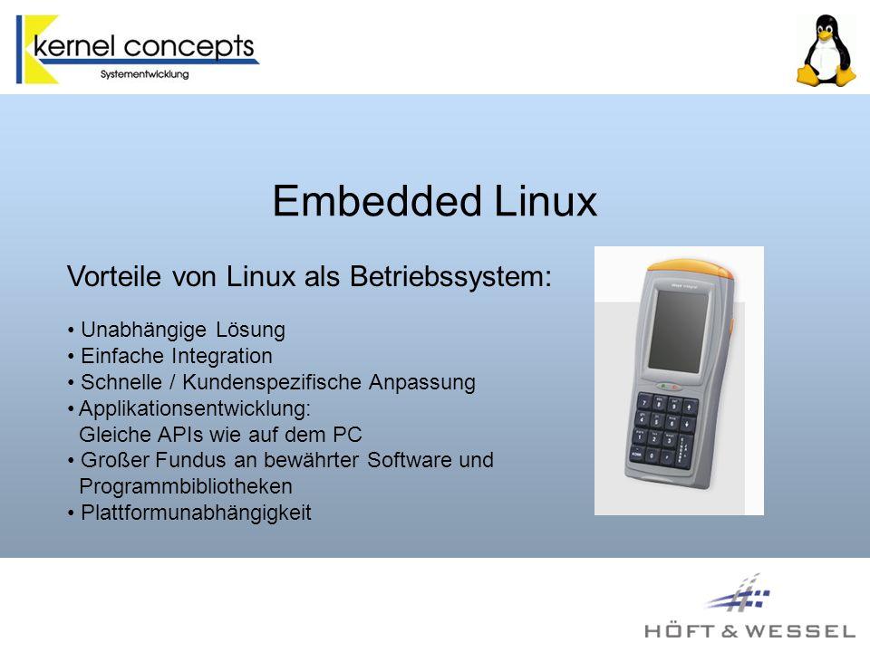 Embedded Linux auf Skeye.Integral Das Ziel: Vollständiger Ersatz für Windows CE.NET 4.20 und den Bootloader Die Lösung: ARM Linux Kernel 2.4.25 Familiar Linux Distribution GPE Desktop Enviroment
