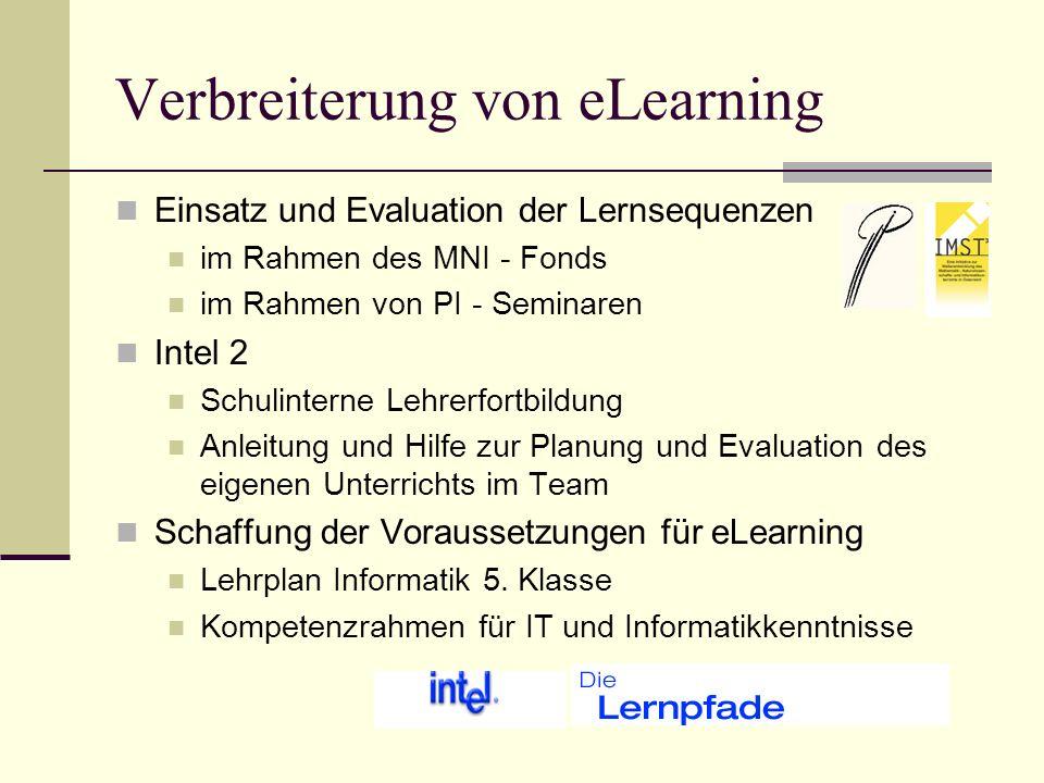 Einsatz und Evaluation der Lernsequenzen Vorstellung der Sequenzen mit besonderem Hinweis auf die methodisch didaktischen Überlegungen Vorstellung und Diskussion der Evaluierung (Fragebogen für LehrerInnen und SchülerInnen) Erstellung einer eigenen Sequenz Einsatz im Unterricht Evaluierung