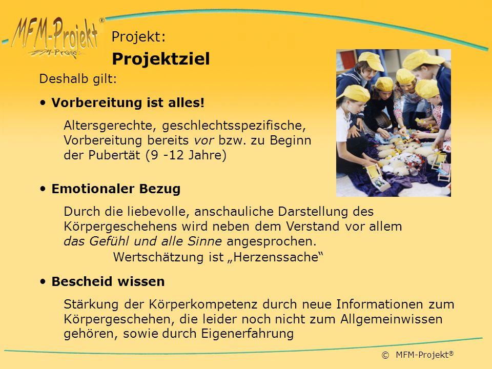 © MFM-Projekt ® Deshalb gilt: Vorbereitung ist alles.