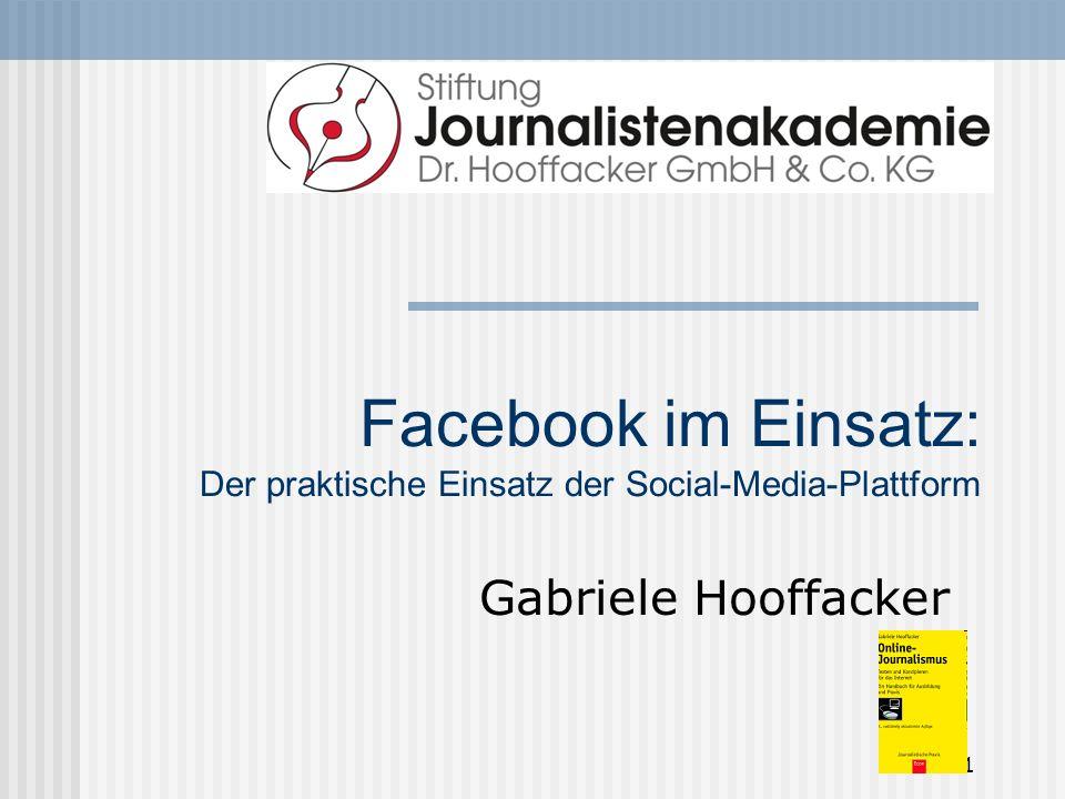 Facebook = Tagebuch für Freunde Wie bei einem Blog sind die Einträge nach Datum sortiert.