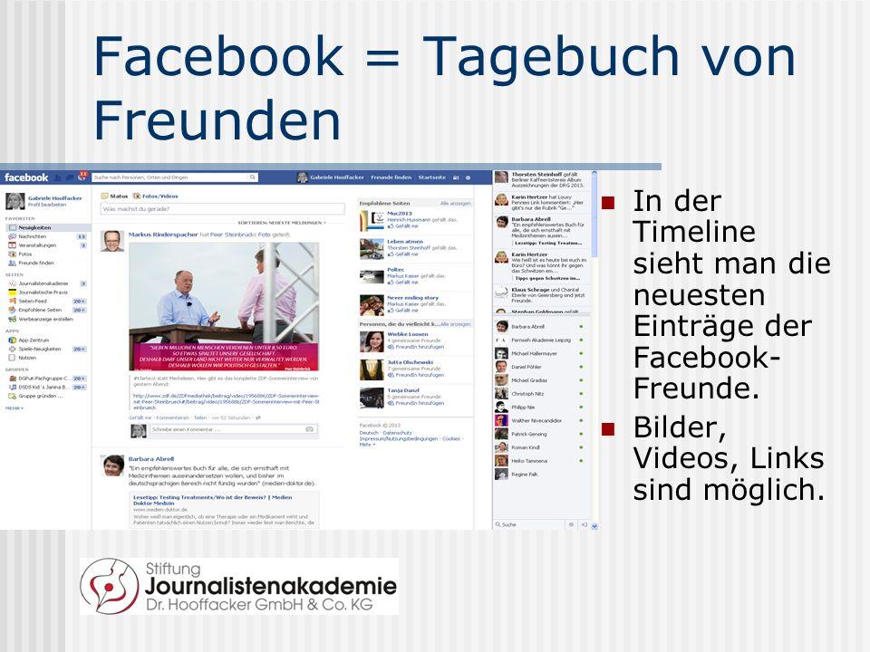 Wie funktioniert Facebook.Über Facebook vernetzt man sich mit Freunden.