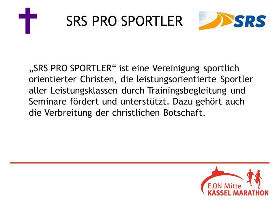 SRS PRO SPORTLER ist eine Vereinigung sportlich orientierter Christen, die leistungsorientierte Sportler aller Leistungsklassen durch Trainingsbegleitung und Seminare fördert und unterstützt.