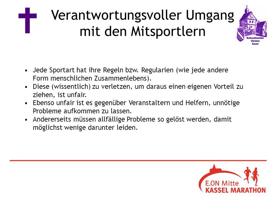 Jede Sportart hat ihre Regeln bzw. Regularien (wie jede andere Form menschlichen Zusammenlebens).