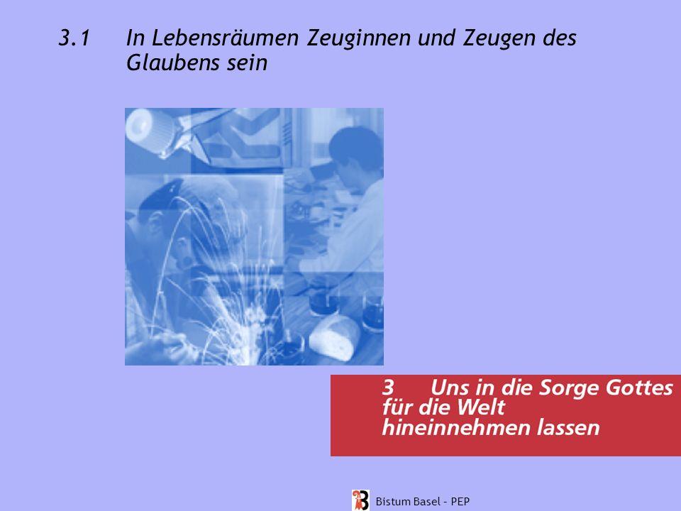 3.1 In Lebensräumen Zeuginnen und Zeugen des Glaubens sein Bistum Basel – PEP