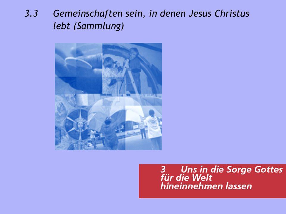 3.3 Gemeinschaften sein, in denen Jesus Christus lebt (Sammlung)