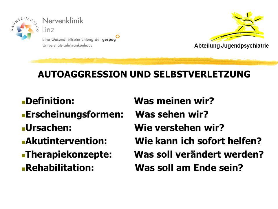 AUTOAGGRESSION UND SELBSTVERLETZUNG Definition: Was meinen wir.