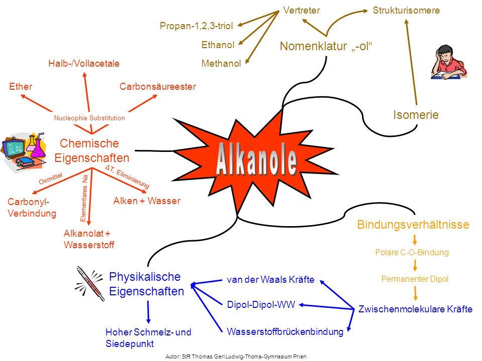 Physikalische Eigenschaften Strukturisomere Isomerie van der Waals Kräfte Chemische Eigenschaften Carbonyl- Verbindung Carbonsäureester Nomenklatur -o