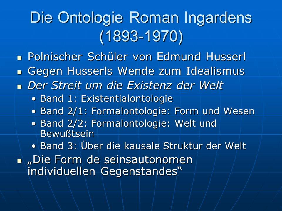 Ontologisches Quadrat Vier Kategorien Vier Kategorien Aristoteles: Kategorien Aristoteles: Kategorien Was sagt Armstrong dazu.