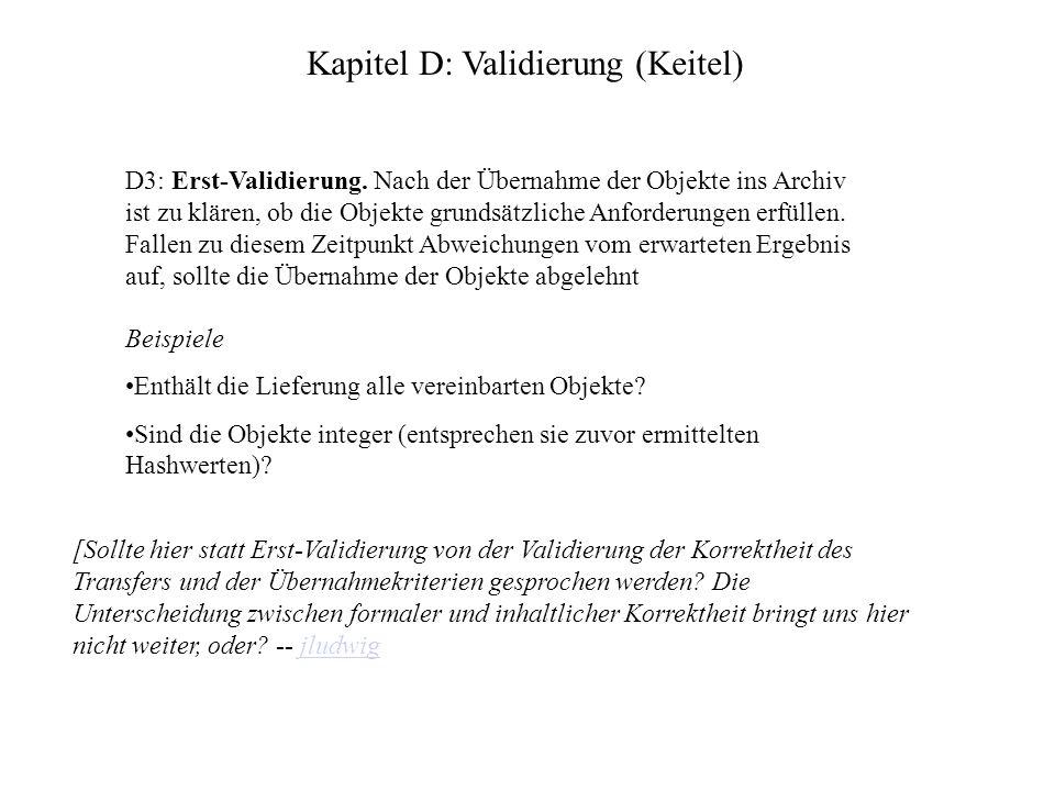 Kapitel D: Validierung (Keitel) D3: Erst-Validierung.