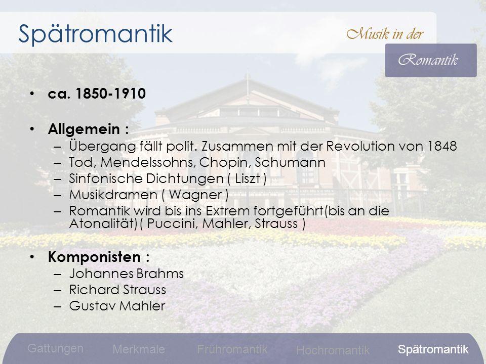 ca.1850-1910 Allgemein : – Übergang fällt polit.