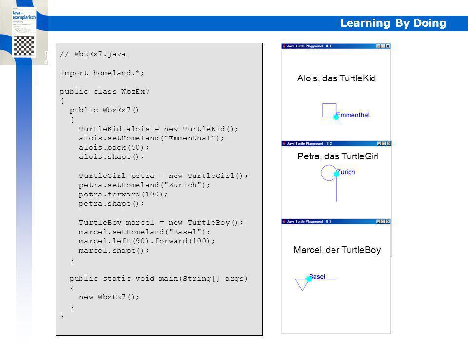 Learning By Doing Objektorientierte Programmiersprache s.