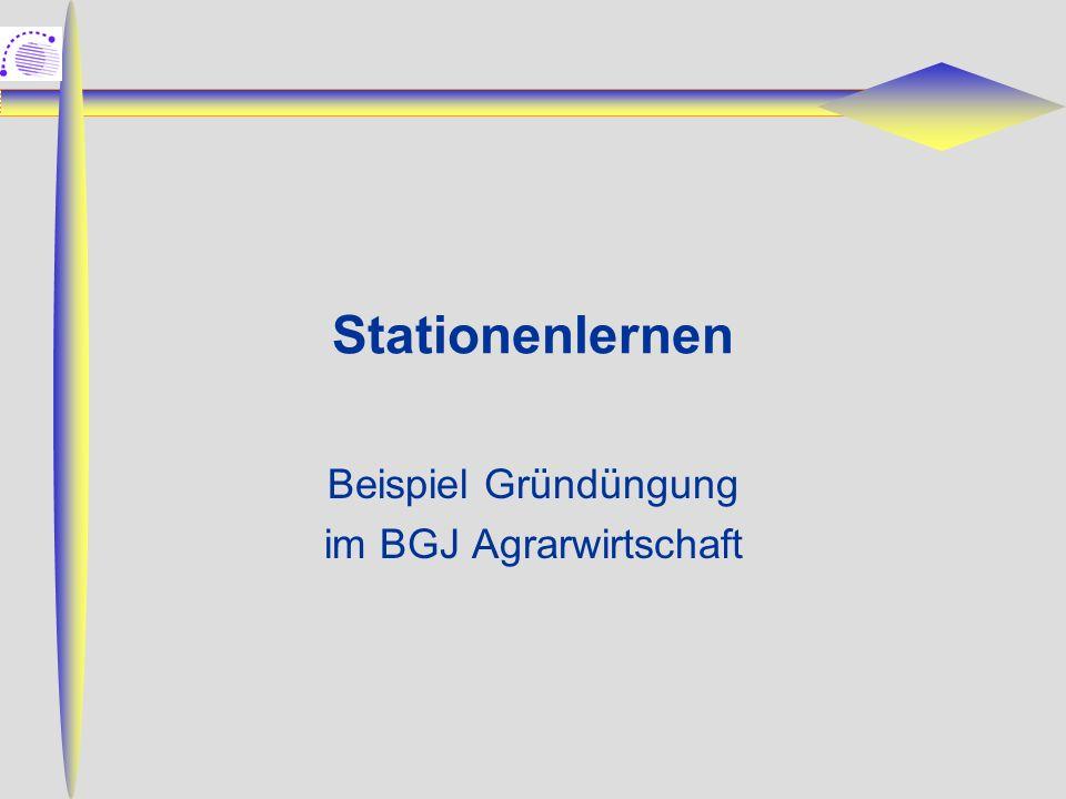 Stationenlernen Beispiel Gründüngung im BGJ Agrarwirtschaft