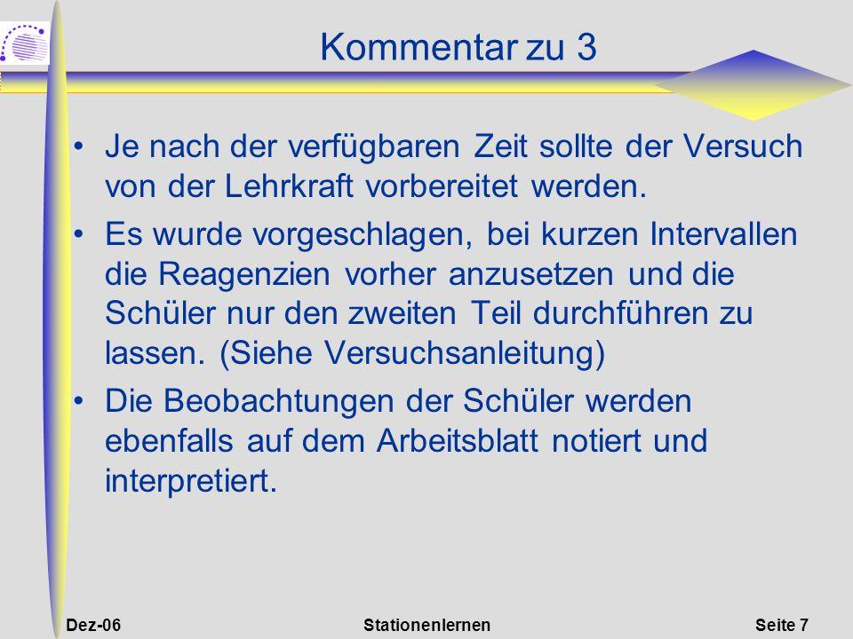 Dez-06StationenlernenSeite 18 Kommentar zu 8 Hilfsmittel: Schätzrahmen.