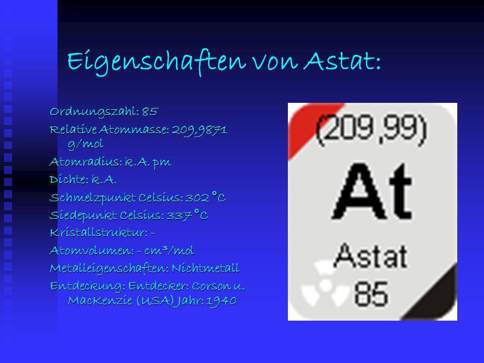 Eigenschaften von Iod: Ordnungszahl: 53 Relative Atommasse: 126,90447 g/mol Atomradius: 133,1 pm Dichte: 4,94 g/cm 3 Schmelzpunkt Celsius: 113,5 °C Si