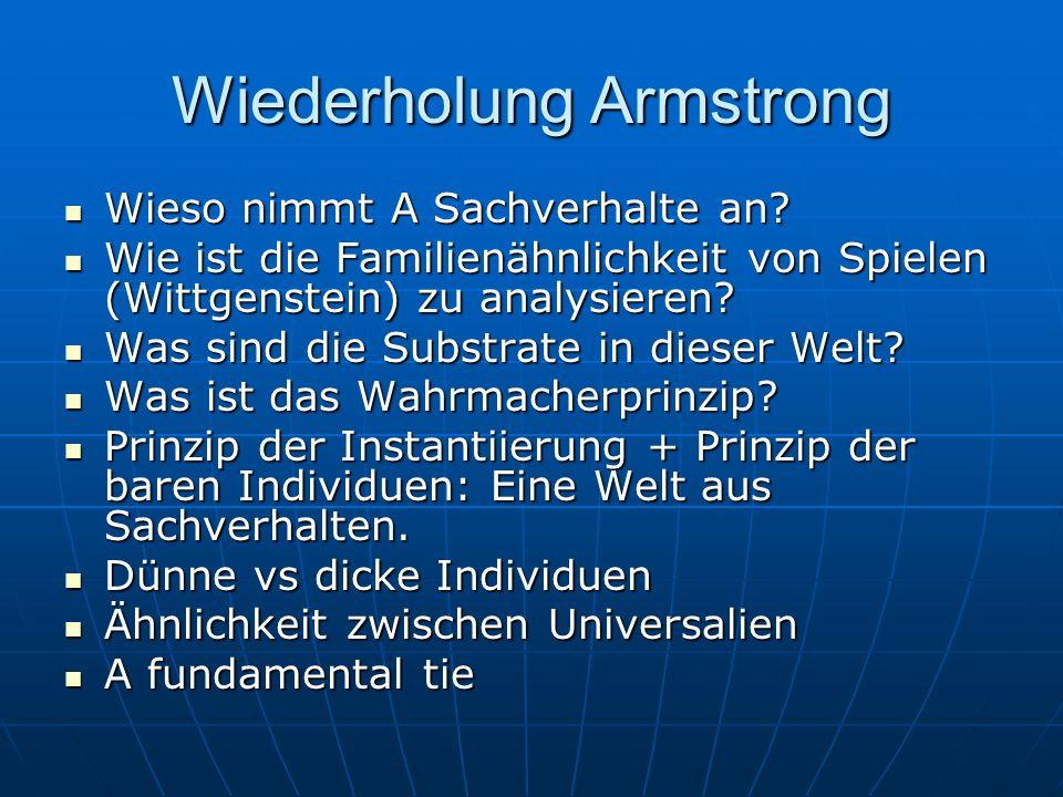 Wiederholung Armstrong Wieso nimmt A Sachverhalte an.