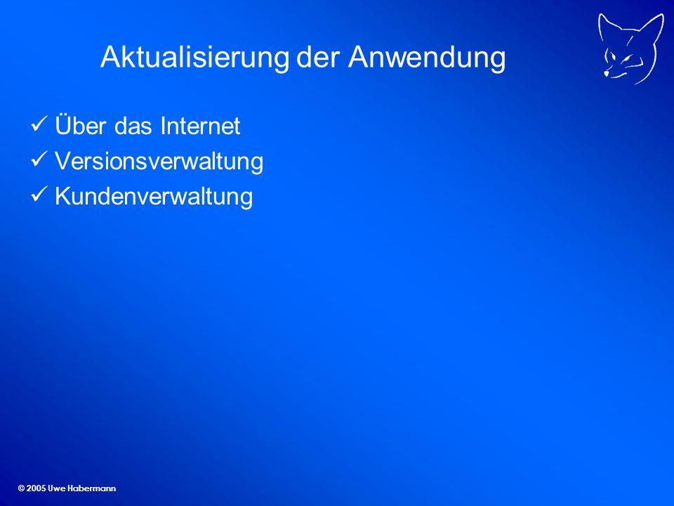 © 2005 Uwe Habermann Aktualisierung der Anwendung Über das Internet Versionsverwaltung Kundenverwaltung