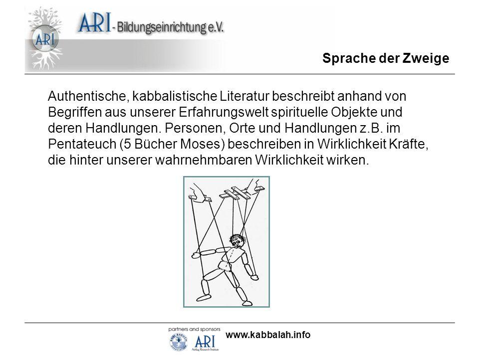 www.kabbalah.info Sprache der Zweige Was unterscheidet aber kabbalistische Bücher von anderen Büchern.