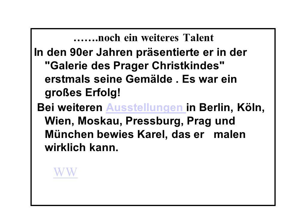 Sein Repertoire Der Repertoire der Goldener Stimme aus Prag ist reich.