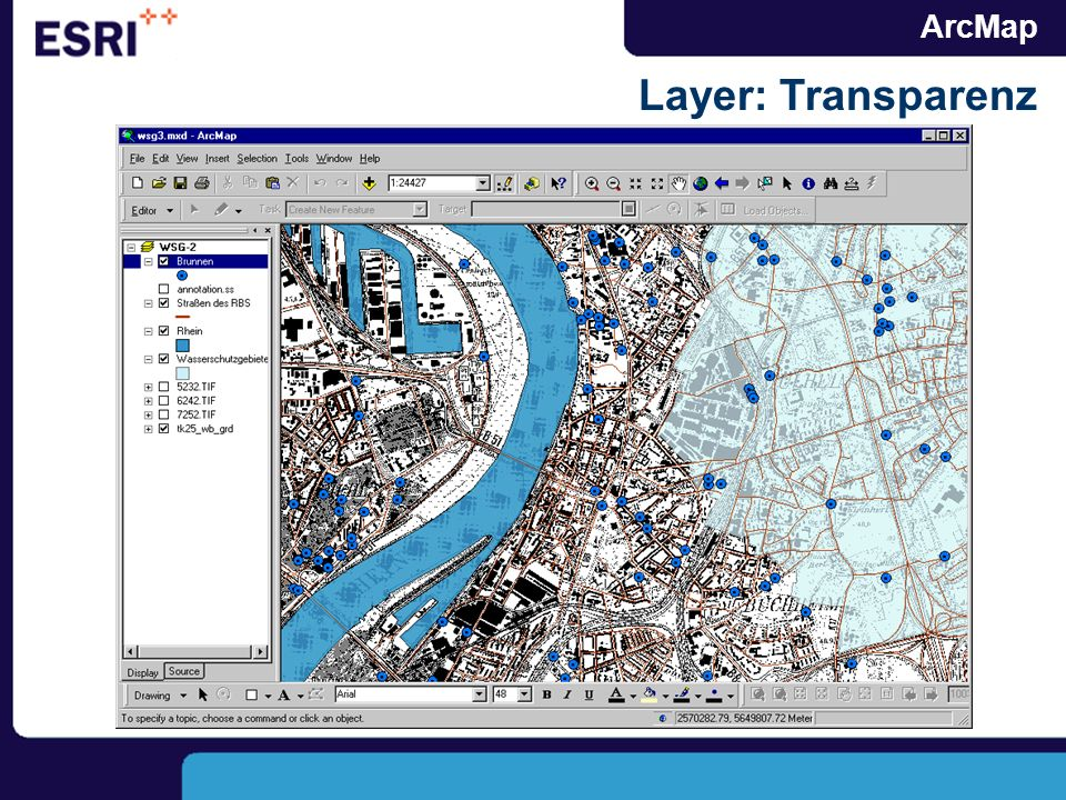 ArcMap Layer: Transparenz