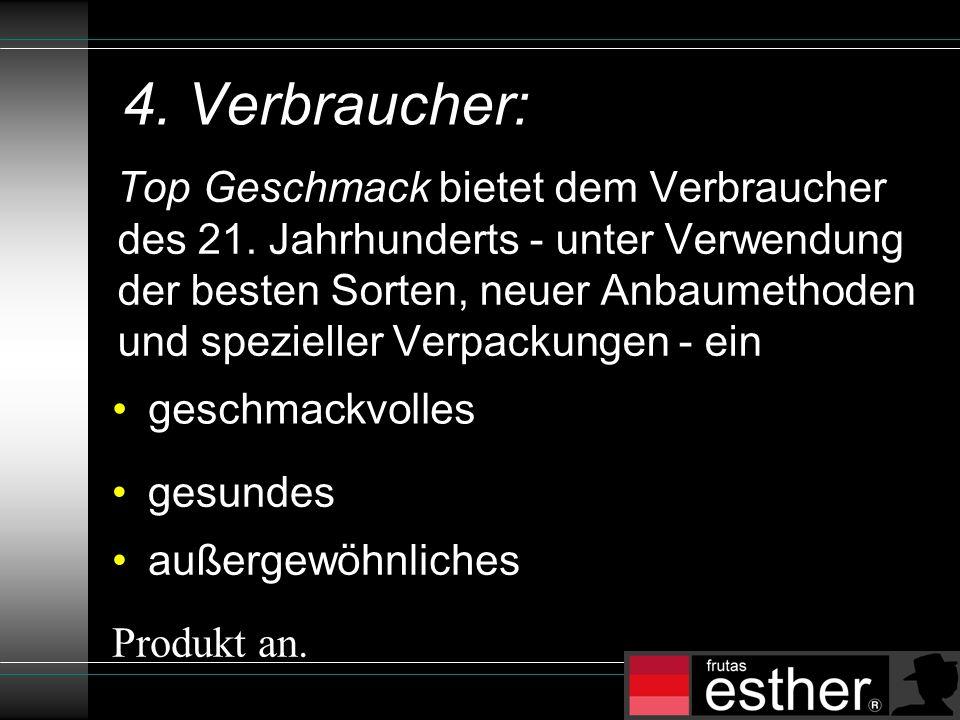 4. Verbraucher: Top Geschmack bietet dem Verbraucher des 21.