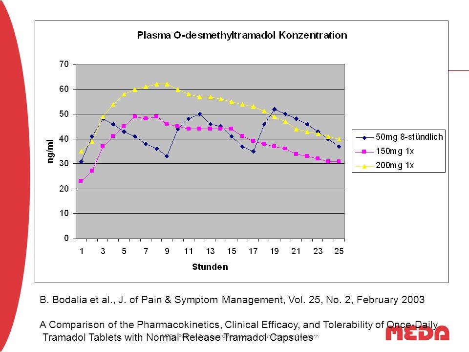 MEDA Pharma Schulungsunterlagen – nur zum internen Gebrauch B. Bodalia et al., J. of Pain & Symptom Management, Vol. 25, No. 2, February 2003 A Compar