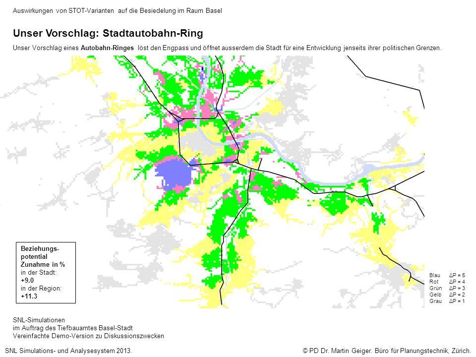 SNL-Simulationen im Auftrag des Tiefbauamtes Basel-Stadt Vereinfachte Demo-Version zu Diskussionszwecken © PD Dr.
