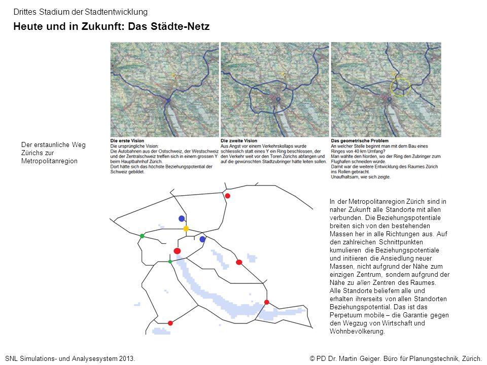 Drittes Stadium der Stadtentwicklung Heute und in Zukunft: Das Städte-Netz © PD Dr.