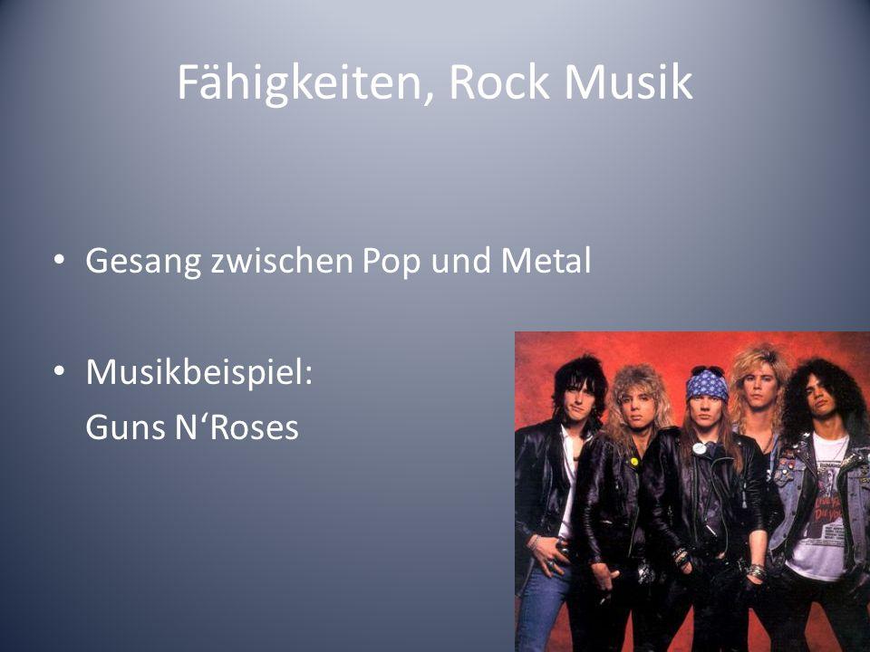 Fähigkeiten, Pop Musik Eigenschaften der Pop Musik Musikbeispiel: The Beatles (60er)