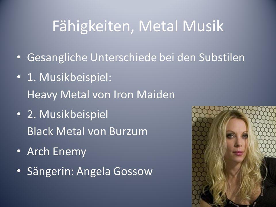 Fähigkeiten, Rock Musik Gesang zwischen Pop und Metal Musikbeispiel: Guns NRoses