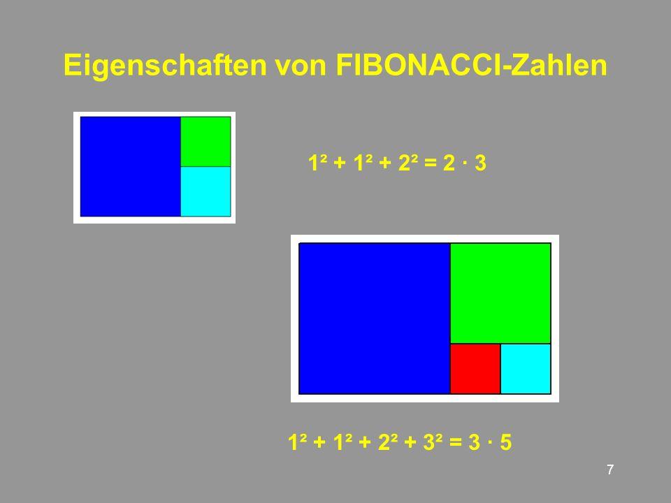 18 Quadratur der Rechtecke Dieses Rechteck lässt sich durch zehn verschiedene Quadrate auslegen.