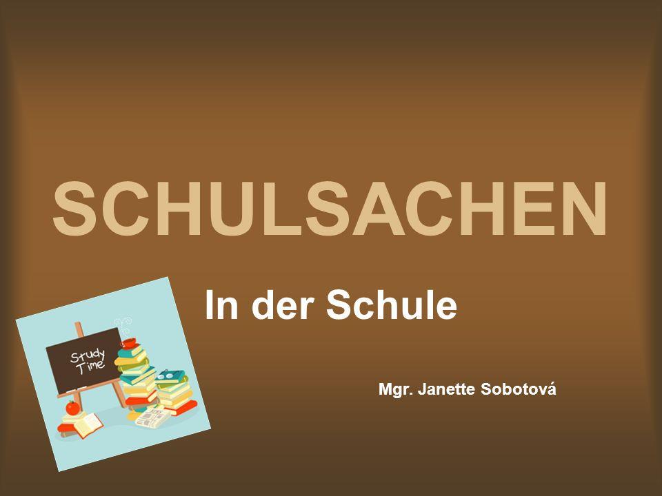 Was lernen wir: Wie sagen wir die Schulsachen auf Deutsch Welche Schulsachen haben wir Aus der Grammatik: Verb haben + Akusativ