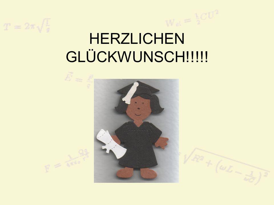HERZLICHEN GLÜCKWUNSCH!!!!!