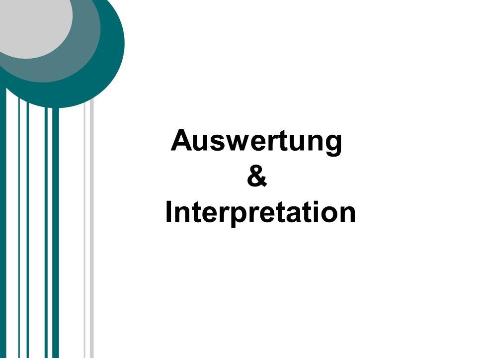Auswertung & Interpretation