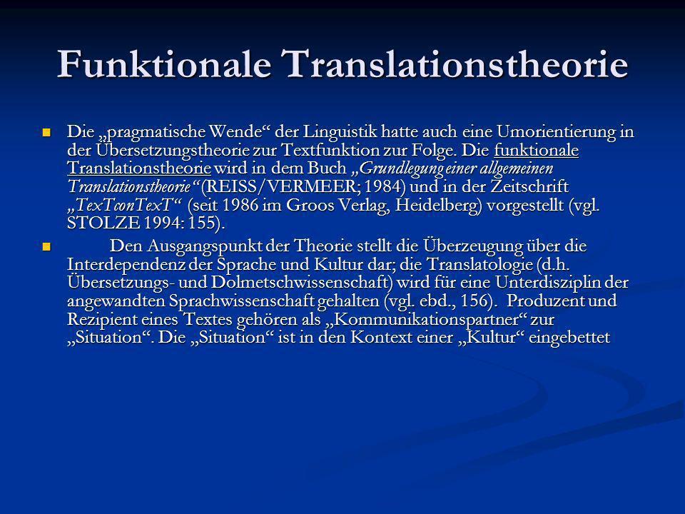 Translatorisches Handlungsgefüge und Übersetzungsauftrag Translation als Expertenhandeln Wenn der Translator als entscheidender Faktor im Translationsprozeß gilt, können die Bedingungen erforscht werden, unter denen das translatorische Handeln erfolgt.