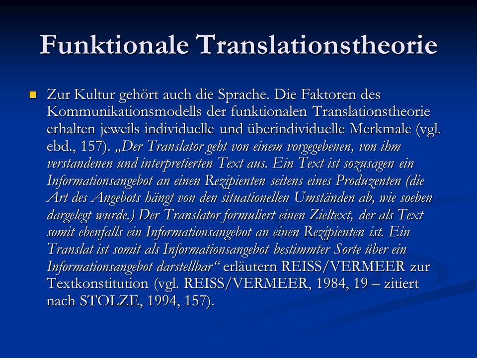 Ein sprachphilosophischer Ansatz Dann bleibt festzustellen, daß für die Zukunft wohl eine traductologie inductive in Richtung der kognitiven Psychologie zu erwarten sei.