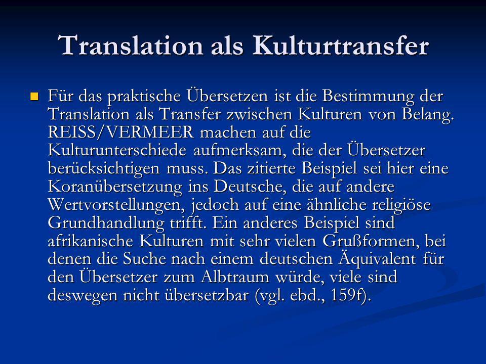 Die Übersetzungsprobleme 3.