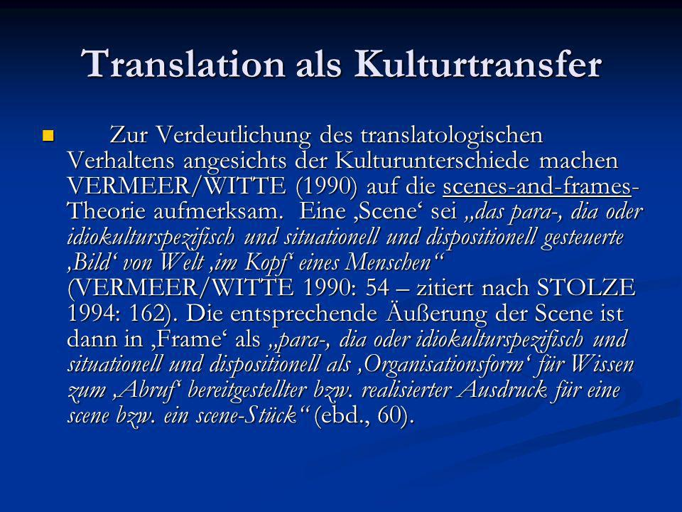 Ein sprachphilosophischer Ansatz Der Übersetzer muss immer zwei Kulturen im Auge behalten – seine eigene und die der Zielsprache.