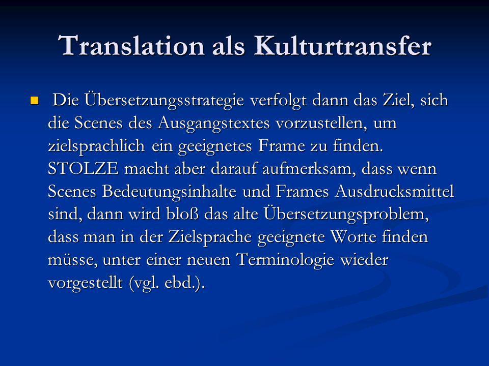 Ein sprachphilosophischer Ansatz Hier wird nicht mehr von Strukturen, Funktionen, Transferprozeduren und Faktoren gesprochen, sondern von Übersetzern als Individuen, die sich in bestimmter Weise mit einem Text auseinandersetzen.