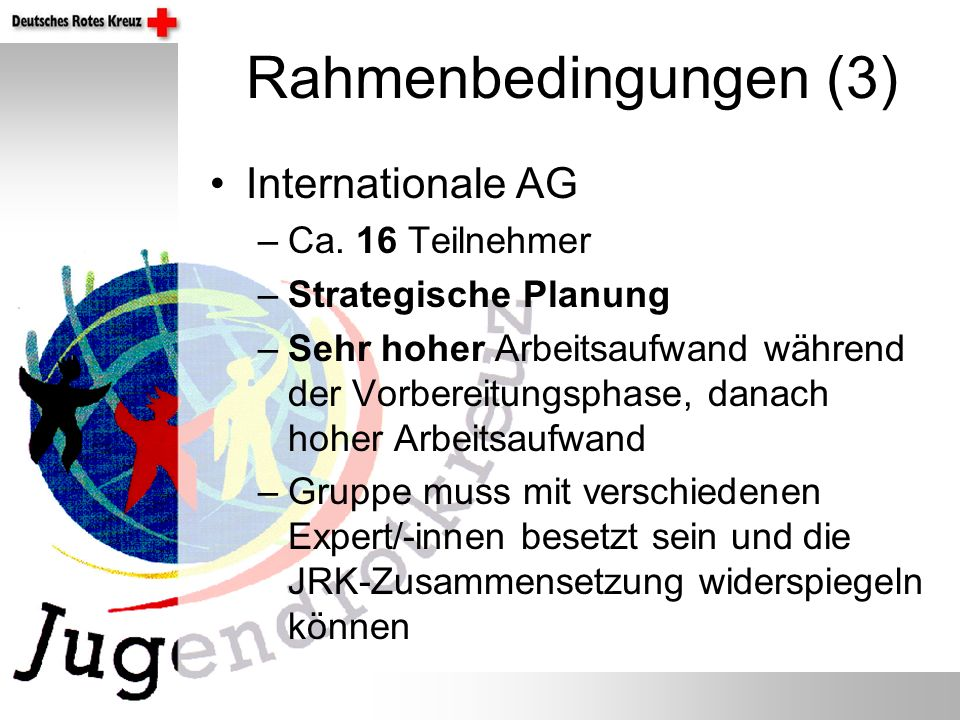 Rahmenbedingungen (3) Internationale AG –Ca.