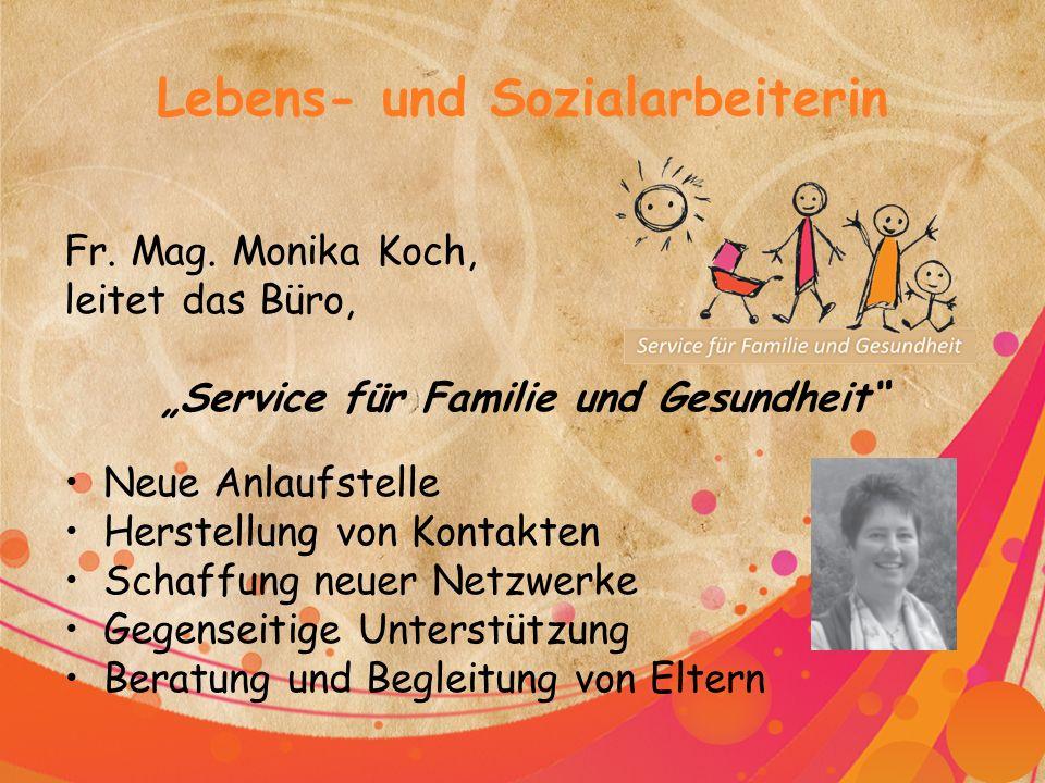 Lebens- und Sozialarbeiterin Fr. Mag.