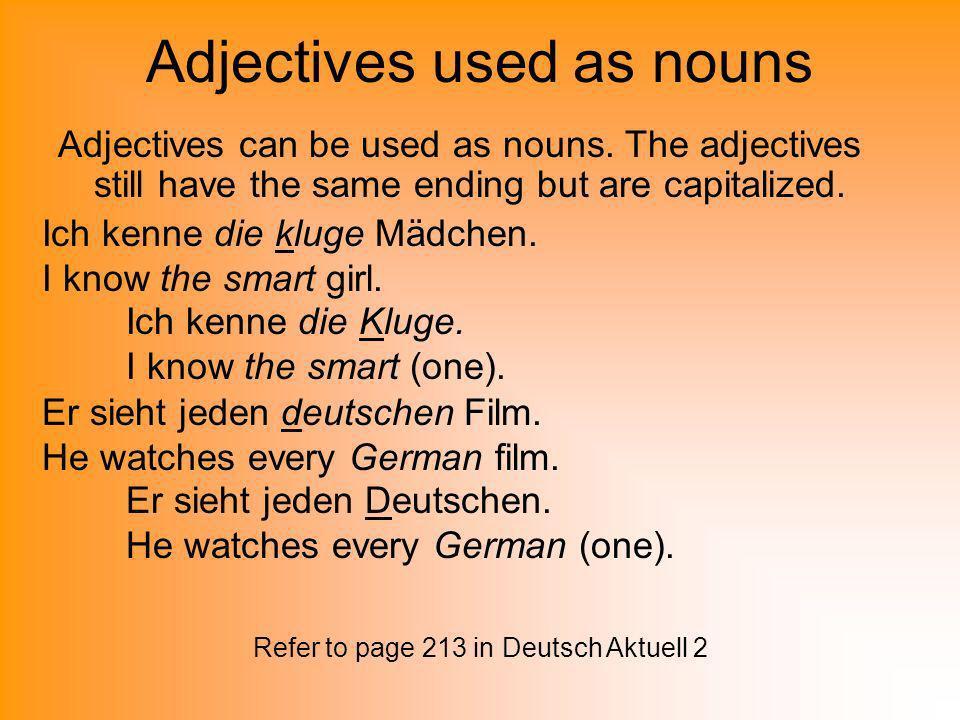 Adjectives after ein words NomAccDatGen M-er-en-en-en F-e-e-en-en N-es-es-en-en P-en-en-en-en Extra Notes: Ein words are ein, kein, and all possesive adjectives (mein, dein, sein, ihr, sein, unser, euer, ihr, and Ihr).