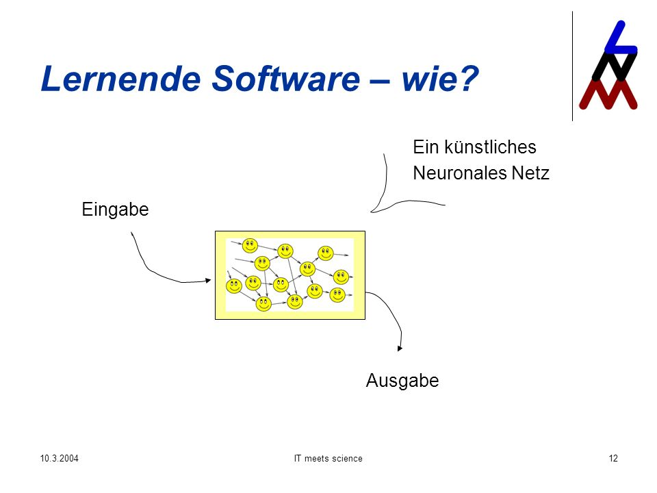 IT meets science12 Lernende Software – wie.