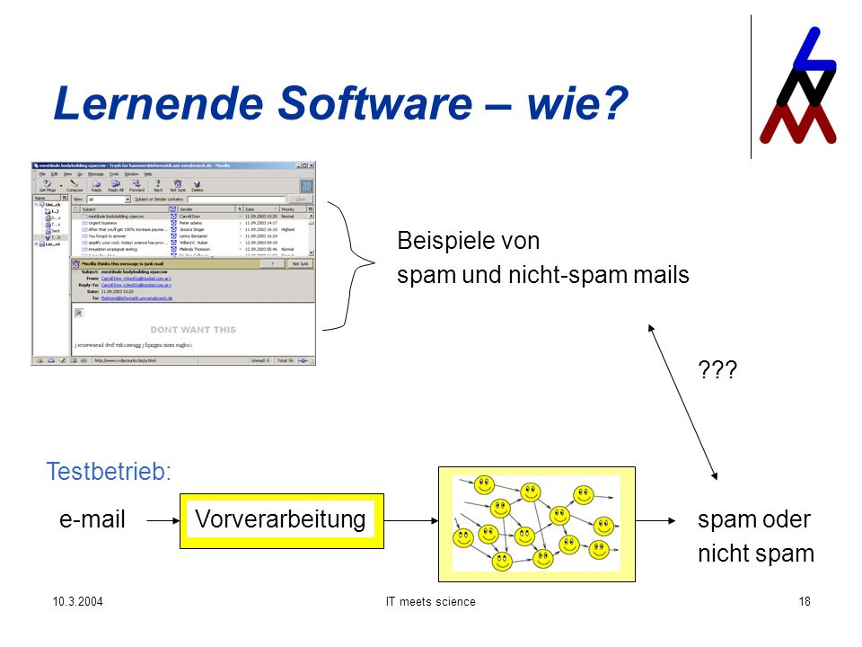 IT meets science18 Lernende Software – wie.