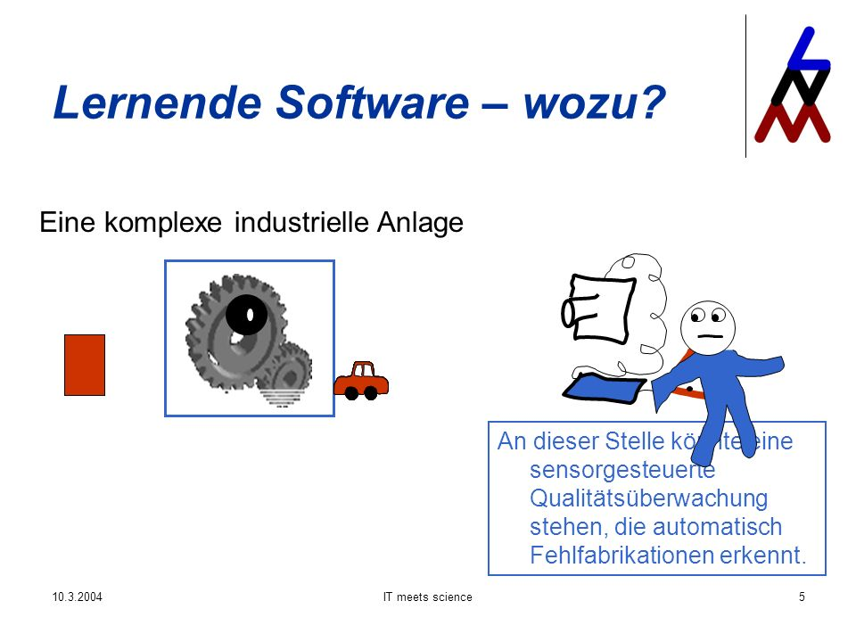 10.3.2004IT meets science6 Lernende Software – wozu.